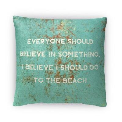 Go to the Beach Fleece Throw Pillow Size: 16 H X 16 W X 4 D