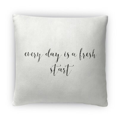 Fresh Start Fleece Throw Pillow Size: 18 H X 18 W X 4 D