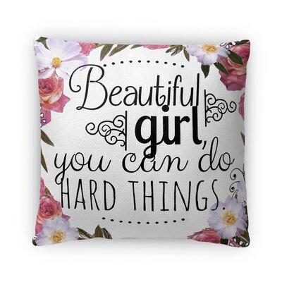 Hard Things Fleece Throw Pillow Size: 16 H X 16 W X 4 D