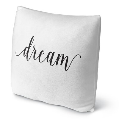 Dream Fleece Throw Pillow Size: 18 H X 18 W X 4 D