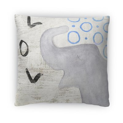 Elephant LOL Fleece Throw Pillow Size: 16