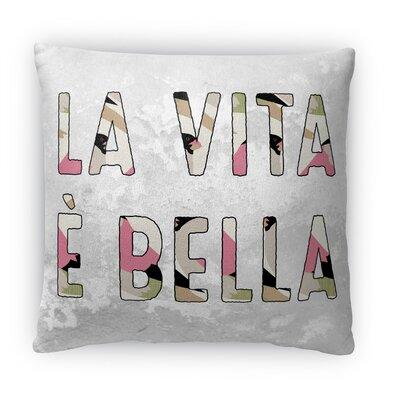 LA Vita E Bella Fleece Throw Pillow Size: 18 H X 18 W X 4 D
