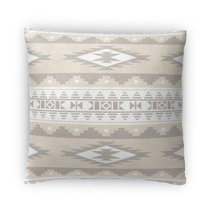 Cheroke Fleece Throw Pillow Color: Cream/Gray, Size: 18 H x 18 W x 4 D