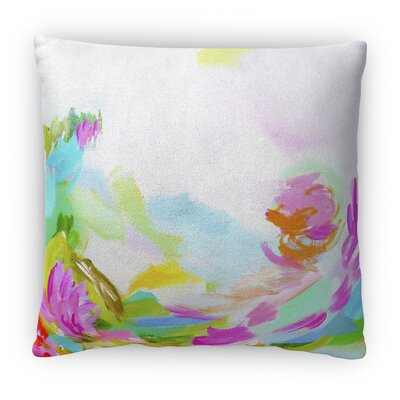 Hollyhock Fleece Throw Pillow Size: 16 H x 16 W x 4 D