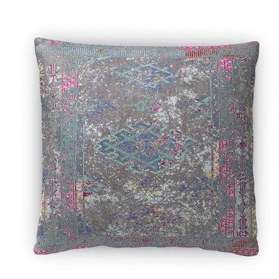 Cimarron Fleece Throw Pillow Color: Green, Size: 16 H x 16 W x 4 D