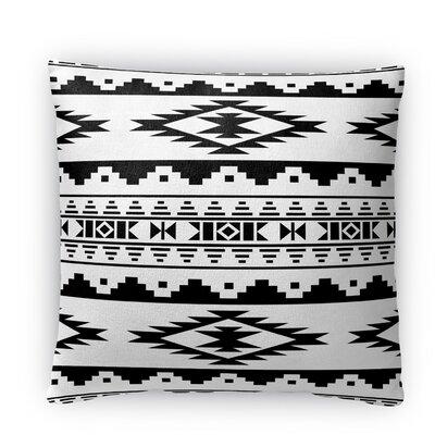 Cheroke Fleece Throw Pillow Color: Black/White, Size: 18