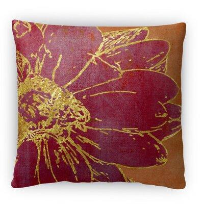Flora Fleece Throw Pillow Size: 16 H x 16 W x 4 D