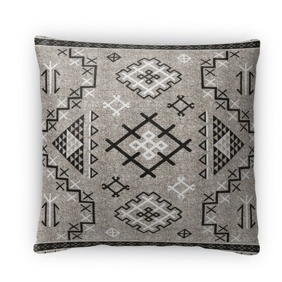 Cyrill Fleece Throw Pillow Size: 16 H x 16 W x 4 D, Color: Black