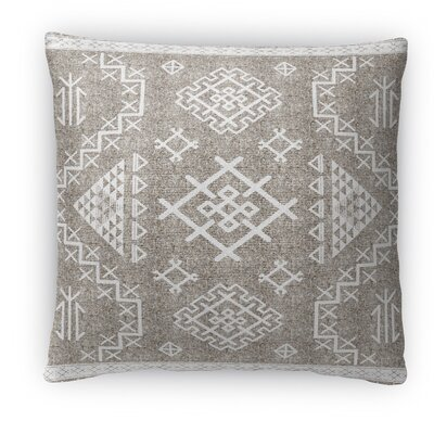 Cyrill Fleece Throw Pillow Color: White, Size: 16 H x 16 W x 4 D