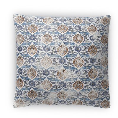 Estancia Fleece Throw Pillow Color: Blue, Size: 16 H x 16 W x 4 D