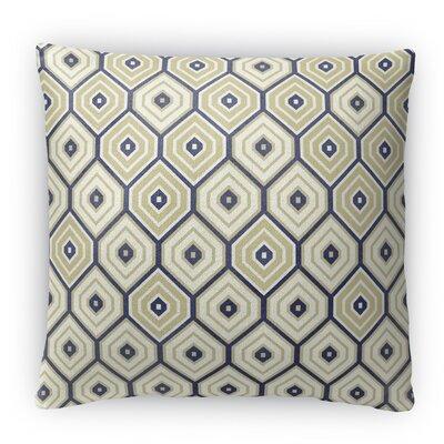 Honey Comb Fleece Throw Pillow Size: 16 H x 16 W x 4 D, Color: Black