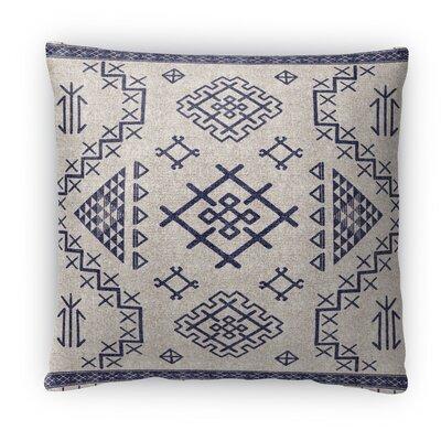 Cyrill Fleece Throw Pillow Size: 16 H x 16 W x 4 D, Color: Dark Blue