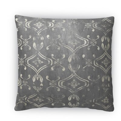 El Durado Fleece Throw Pillow Color: Gray, Size: 18 H x 18 W x 4 D