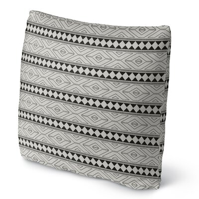 Marrakesh Fleece Throw Pillow Size: 18 H x 18 W x 4 D, Color: Black
