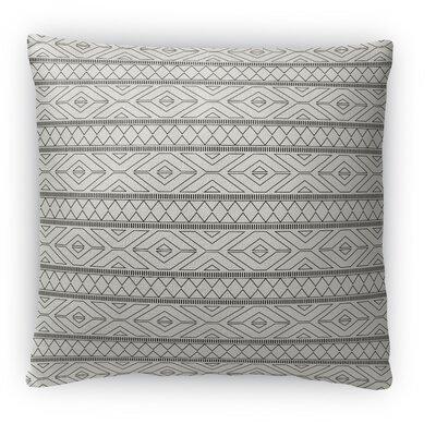 Marrakesh Fleece Throw Pillow Size: 18 H x 18 W x 4 D, Color: Gray