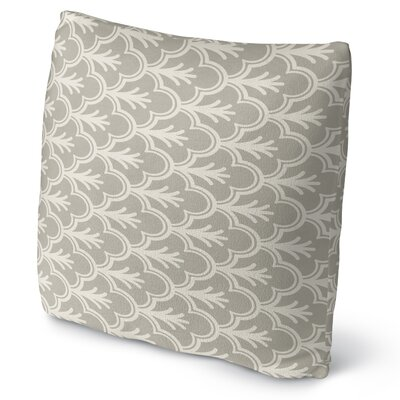 Seville Fleece Throw Pillow Color: Gray, Size: 16 H x 16 W x 4 D