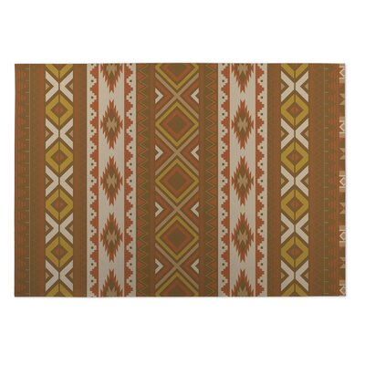 Rust Indoor/Outdoor Doormat Rug Size: 5 x 7