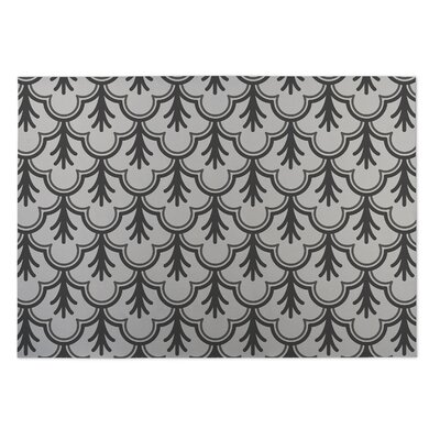 Ivory/Gray Indoor/Outdoor Doormat Rug Size: 8 x 10