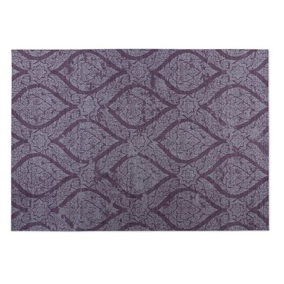 Lilac Indoor/Outdoor Doormat Mat Size: Rectangle 2 x 3