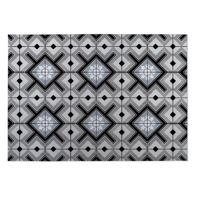 Gray Indoor/Outdoor Doormat Rug Size: Square 8