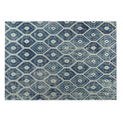 Denim Indoor/Outdoor Doormat Rug Size: 2 x 3