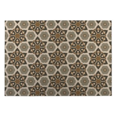 Tan Indoor/Outdoor Doormat Rug Size: 2 x 3