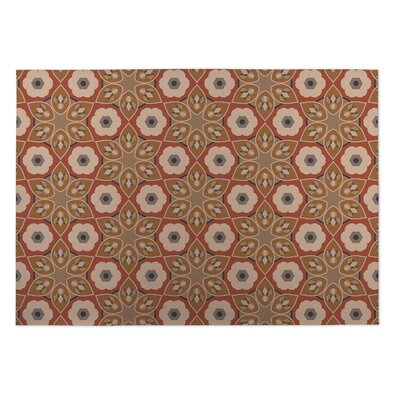 Rust Indoor/Outdoor Doormat Rug Size: Square 8