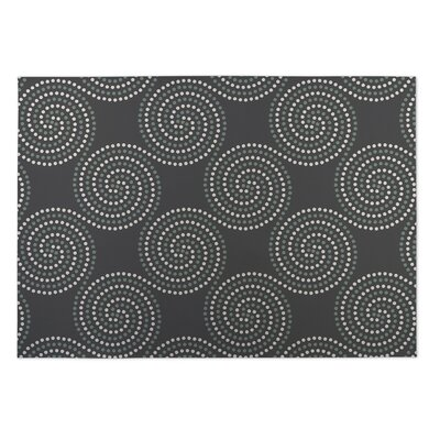 Gray Indoor/Outdoor Doormat Mat Size: Square 8