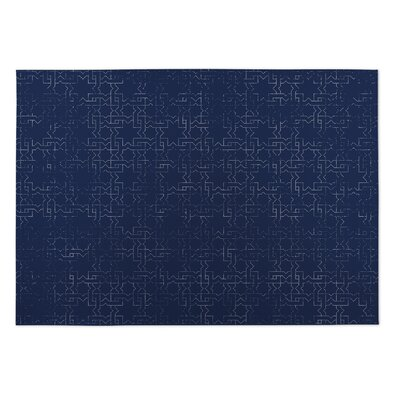 Beaten Path Navy Indoor/Outdoor Doormat Rug Size: 5 x 7