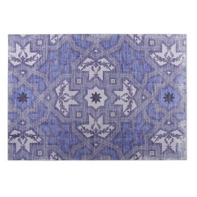 Rite Blue Indoor/Outdoor Doormat Rug Size: 2 x 3