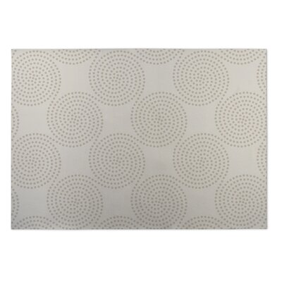 Ivory/Beige Indoor/Outdoor Doormat Mat Size: Rectangle 8 x 10