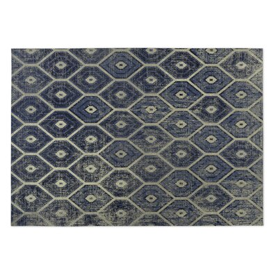 Navy Indoor/Outdoor Doormat Rug Size: 5 x 7