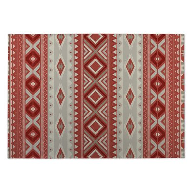 Red Indoor/Outdoor Doormat Rug Size: Rectangle 4 x 5
