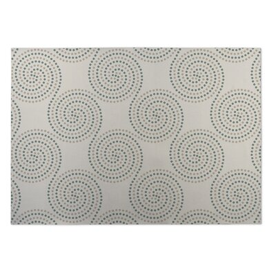 Ivory Indoor/Outdoor Doormat Rug Size: 5 x 7