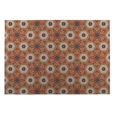 Rust/Gray Indoor/Outdoor Doormat Rug Size: 2' x 3'