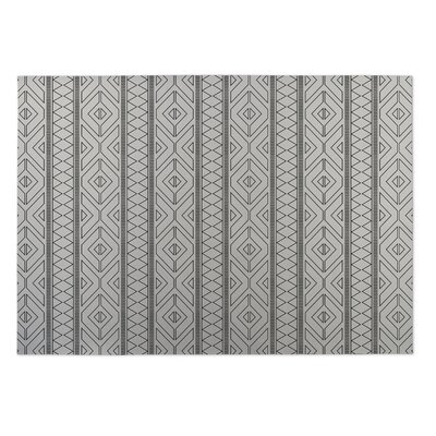 Ivory Indoor/Outdoor Doormat Mat Size: Square 8