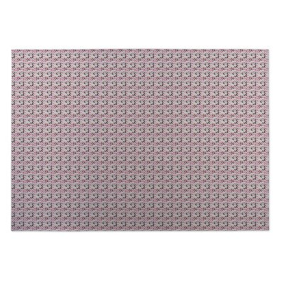 Blush Indoor/Outdoor Doormat Mat Size: Rectangle 5 x 7