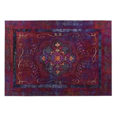 Boho Dreams Red Indoor/Outdoor Doormat Rug Size: Square 8