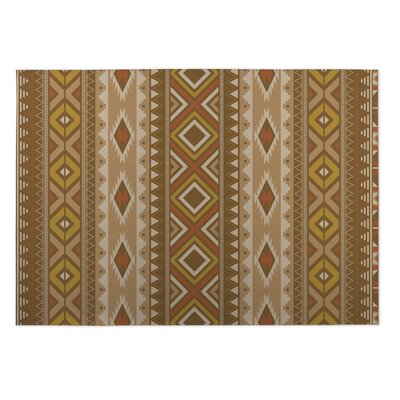 Brown Indoor/Outdoor Doormat Rug Size: 5 x 7