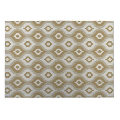 Namaste Tan Indoor/Outdoor Doormat Mat Size: Rectangle 4' x 5'