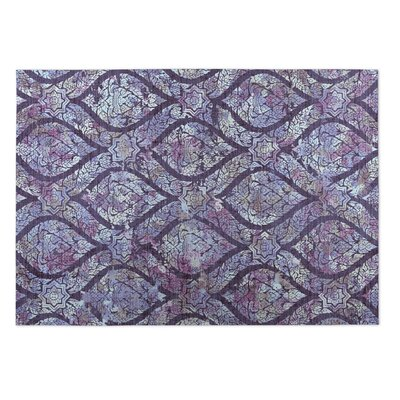 Lilac/Multi-Color Indoor/Outdoor Doormat Rug Size: 2 x 3