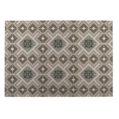 Tan Indoor/Outdoor Doormat Rug Size: 4 x 5