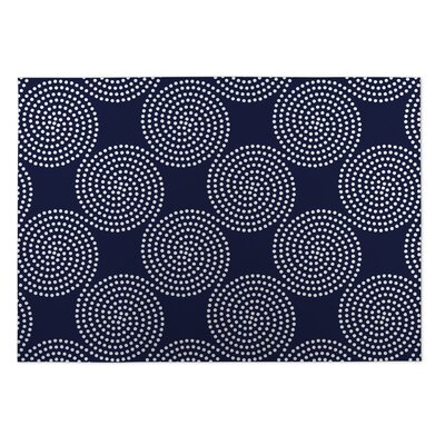 Navy Indoor/Outdoor Doormat Rug Size: Rectangle 4 x 5