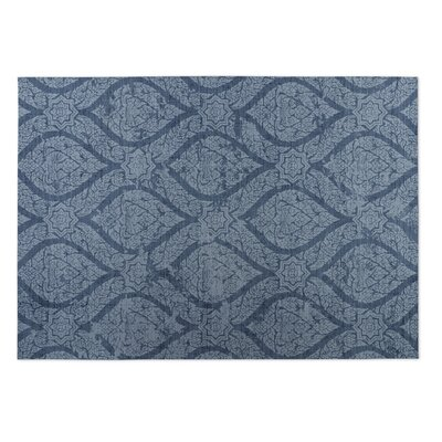Blue Indoor/Outdoor Doormat Mat Size: Rectangle 2 x 3