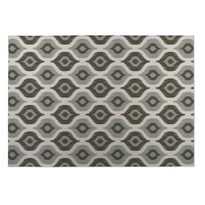 Namaste Gray Indoor/Outdoor Doormat Rug Size: 4 x 5
