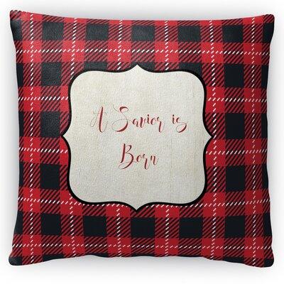 A Savior is Born Fleece Throw Pillow Size: 18 H x 18 W x 4 D