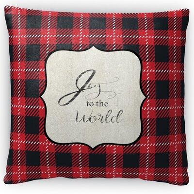 Joy to the World Fleece Throw Pillow Size: 16 H x 16 W x 4 D