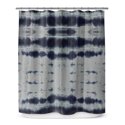 Shibori Stripe Shower Curtain