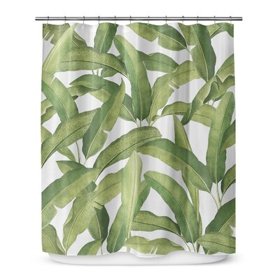 Pallavi Cotton Blend Shower Curtain Size: 72 H x 70 W