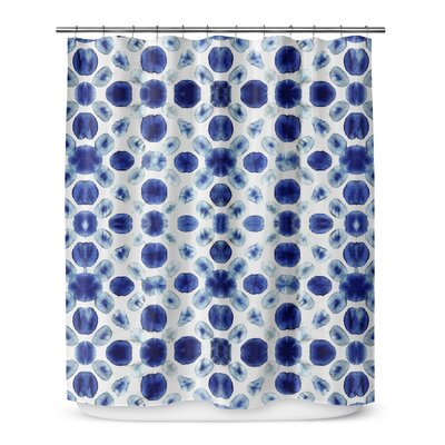 Shibori Circle Shower Curtain